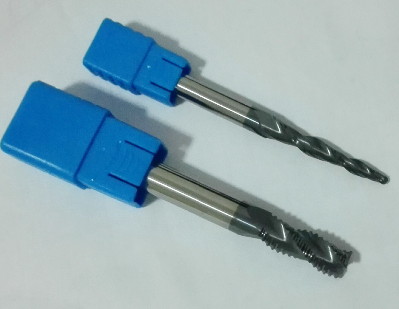 Free shipping 49pcs Tapered Ball nose and Flat endmills CNC solid carbide milling tools cutters HRC55