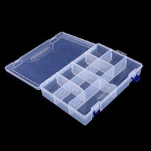 Fashion 10 Grids Adjustable Transparent Plastic Storage Box for Component Jewelry Tool Box Bead Organizer Nail Art Tip Box недорого