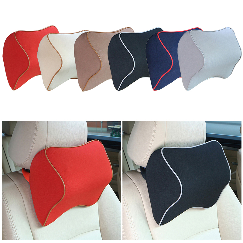 1 car pillow space memory foam fabric neck headrest car covers vehicular pillow car seat cover. Black Bedroom Furniture Sets. Home Design Ideas