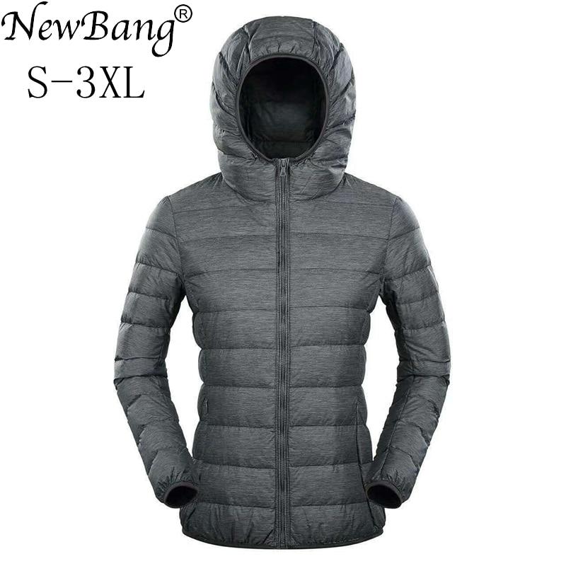 NewBang Ultra Light Down Jacket Women Duck Down Jacket Hooded Feather Coat Matt Windproof Thin Warm Light Weight Female Jackets