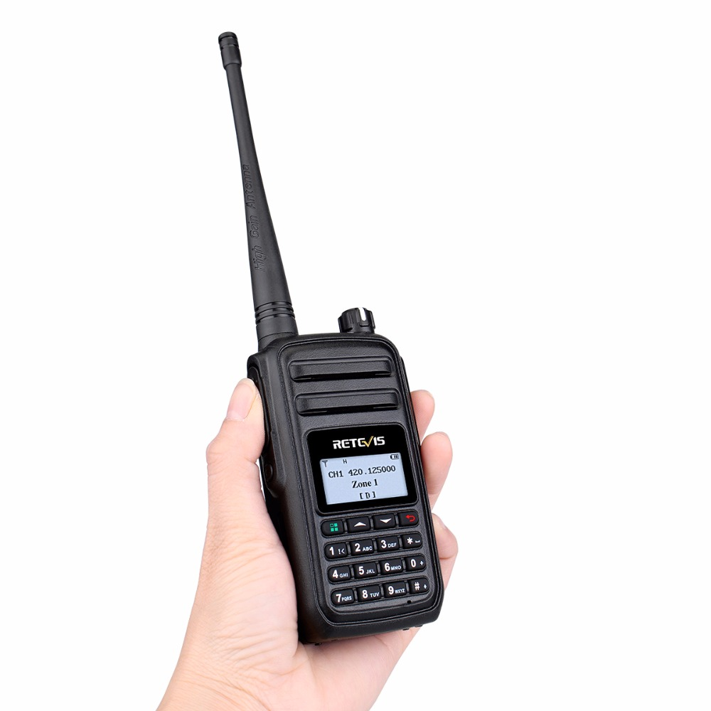 Image 4 - RETEVIS RT80 Ham Radio DMR Digital Walkie Talkie 5W UHF VOX FM Radio Portable Two Way Radio Amador Analog/Digital Transceiver-in Walkie Talkie from Cellphones & Telecommunications