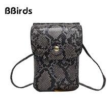 0bce8792cf080 BBirds 2019 nowych moda damska torba spersonalizowane wzór wężowej torba na  ramię mała torebka crossbody Mini