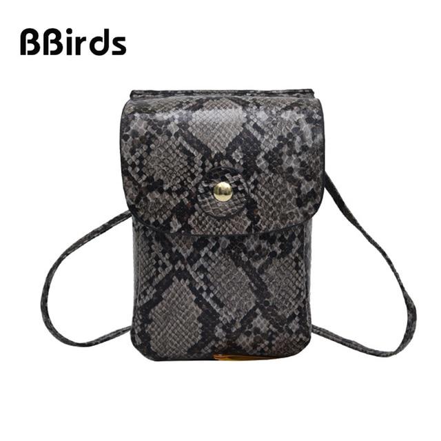BBirds 2019 New Fashion Women's Bag Personalized Snakeskin Pattern Shoulder Bag Small Crossbody Bag Mini Messenger Bag Women