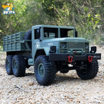WPL B16 B-16 1:16 RC Truck WPL RC Crawler Car 6WD 2.4G Mini Off-Road Remote Control Car 15km/H Top Speed Mini RC Monster Truck