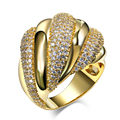 DC1989 Women Twisted Wedding Band Ring Shiny Matt Tones Rhodium or Gold Plated Synthetic CZ Paved Lead Free Finish Sizes 5 to 10