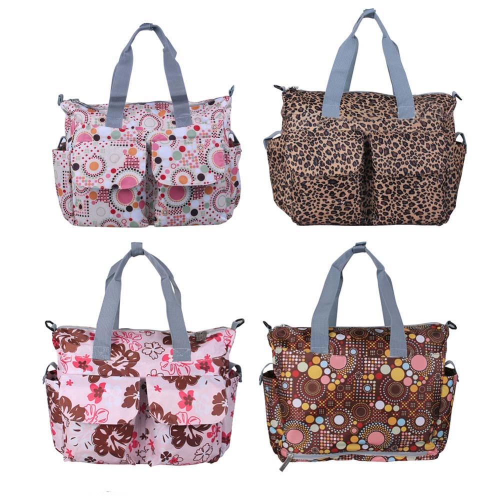 New MultiColored Tote Nappy Bags Cross-body Multifunctional Mummy Bags Maternity Shoulder Diaper Bags bolsas
