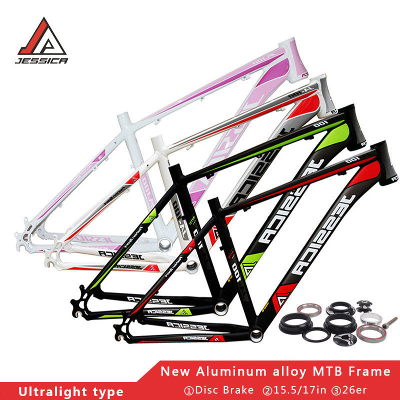 Bicycle Frame 15 5 17 Aluminum MTB Mountain Bike Frame Headset Ultralight 26er Frameset