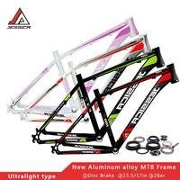 Велосипедная рама 15,5 17 горный велосипед алюминиевый горный велосипед рама и гарнитура Сверхлегкий 26er Frameset