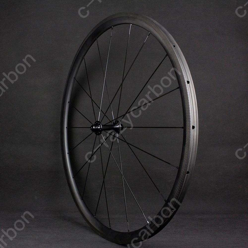Special Brake Track Top Level 700c U Shape 30mm Tubular/Clincher Superlight Carbon Bicycle Wheelset