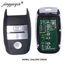 jingyuqin Car Smart ajuste alejado de la llave para KIA Sorento Sportage K4 Kx3 Río después de 2016 Año de la viruta ID47 433Mhz tecla de control