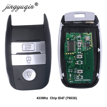 jingyuqin Car Smart Remote Key pasuje do KIA Sportage Sorento K4 KX3 Rio po 2016 Rok ID47 Chip 433MHz Kontrola Key tanie i dobre opinie Chip ID47 Key Remote Control ABS + Metal + Circuit board China For Kia