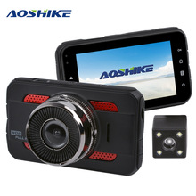 Aoshike 3 inchtouch hd 1080 p 자동차 백미러 레코더 720 p 단일 기록 디스플레이 자동차 dvr 차량 카메라 tft lcd