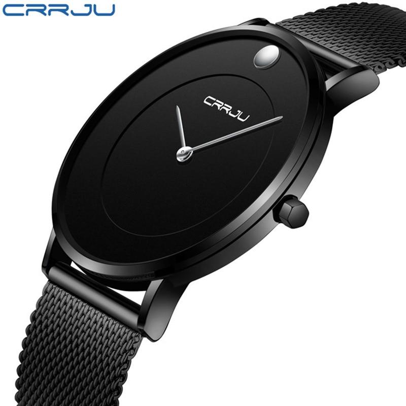 CJ-2106 Watch for Men Simple Waterproof Men Wrist Watch Fashion&Casual Round Male Clock Black цена