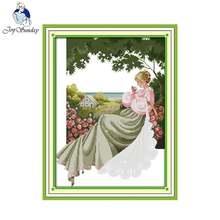 Набор для вышивки крестом joy sunday a rose garden 11ct 14ct