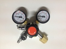 CO2 Gauge Regulator Homebrew CO2 Regulator, 0~3000psi, 0~60psi, CGA320r with 1/4MFL Shuttoff Valve  W21.8