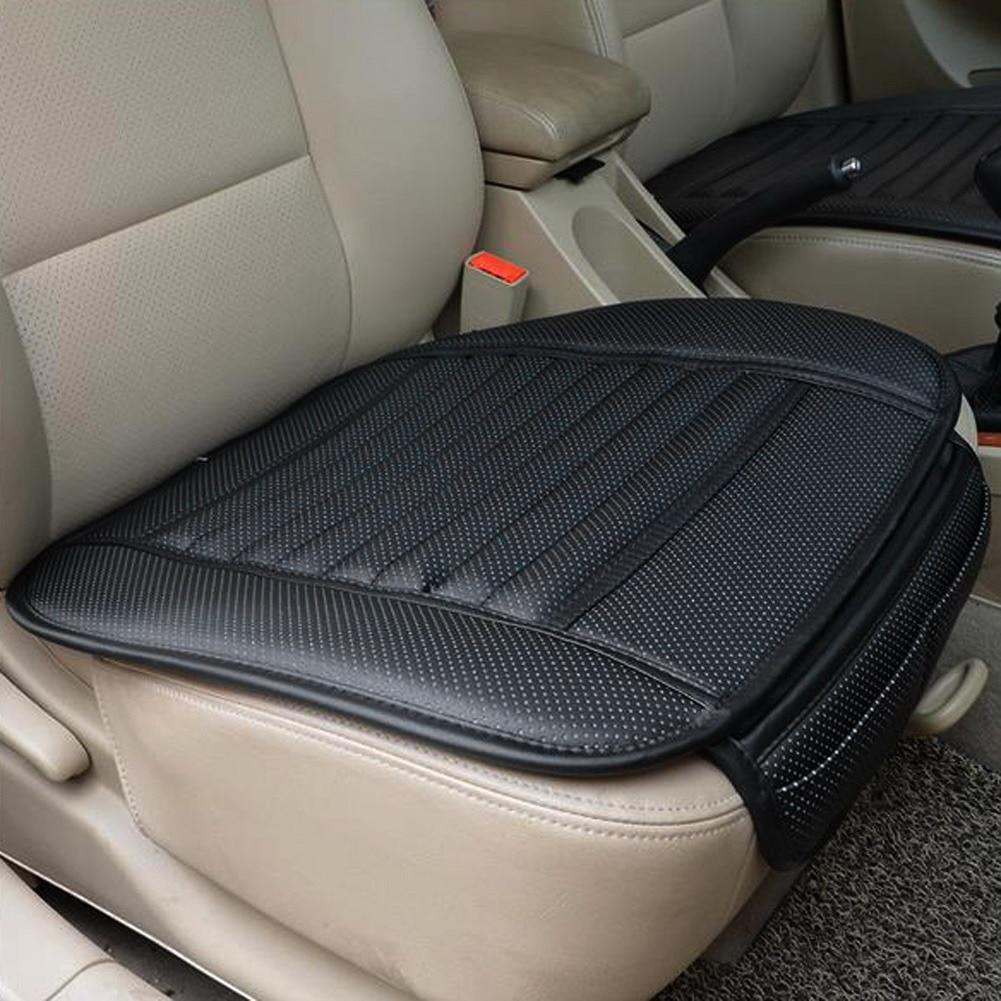 Funda de asiento delantero de coche de cuero PU funda de cojín de asiento de coche antideslizante para cuatro estaciones