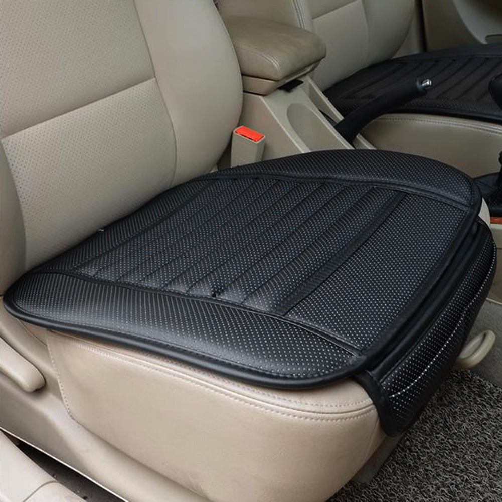 PU Lærbil Front Sete Deksel Fire Sesonger Anti Slip Mat Car Single Sete Pute Cover Universal Auto Chair Pad Car Styling