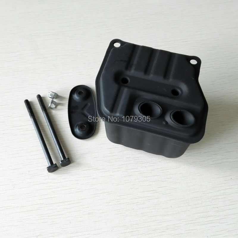 45cc 52cc 58cc Chainsaw two holes muffler 4500 5200 5800 Chain saw muffler kit letaosk new generator recoil pull starter chainsaw spares fit for chinese chainsaw 4500 5200 5800 45cc 52cc 58cc