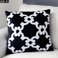 H3142 New Design Black White Cloudy Patterned Cushion Cover Soft Sofa Pad Decorative Pillowcases Home Decoration