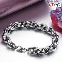Titanium Steel link Chain Bracelet, Fashion Cable Bracelet. 4