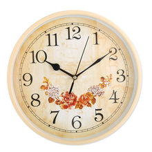 12 inch Wall Clock Hanging Champagne Rose clock Black hands using a carbon battery to move the clocks Home hanging decoration(China)