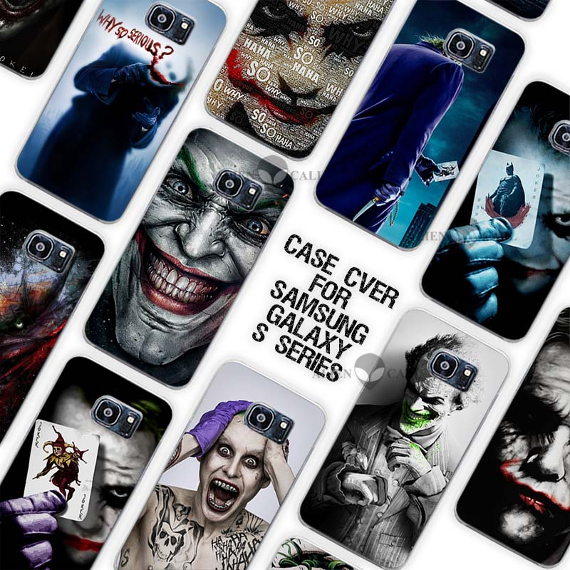 18dbb02bc60 Hot sale be serious joker Clear Case Cover Coque Shell for Samsung Galaxy  S3 S4 S5 Mini S6 S7 Edge Plus
