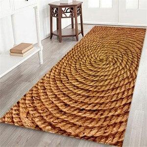 Image 2 - Alfombra de baño con estampado marino de 60x180 CM, felpudo antideslizante para pasillo, tapete de cocina con agua absorbente