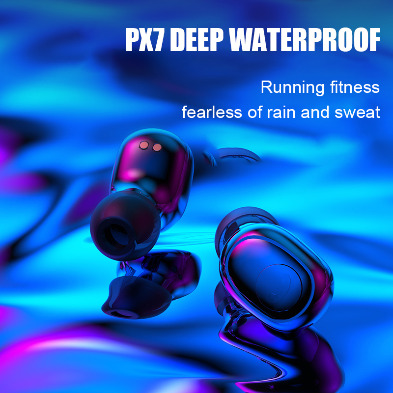 H & A nowe słuchawki Bluetooth 8D Stereo bezprzewodowe słuchawki douszne mini słuchawki bezprzewodowe słuchawki z 3500mAh Power Bank słuchawki douszne