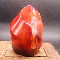 460g 500gNatural Crystal red agate Raw Gemstone Ornament Polished Quartz Onyx Handicraft Decorating Stone Healing freee shipping