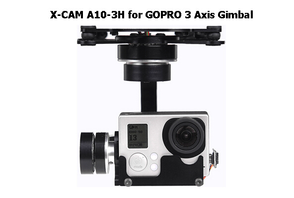X - CAM A10-3H 3-Axis Brushless Gimbal Automatic Stabilization Gimbal for Gopro for FPV Quadcopter Multicopter
