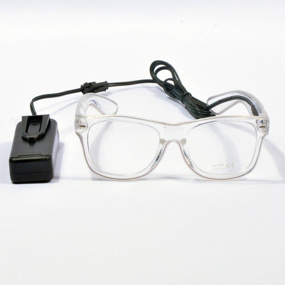 Light Up Glasses LED Rave Sunglasses white Frame EL Wire Colorful ...