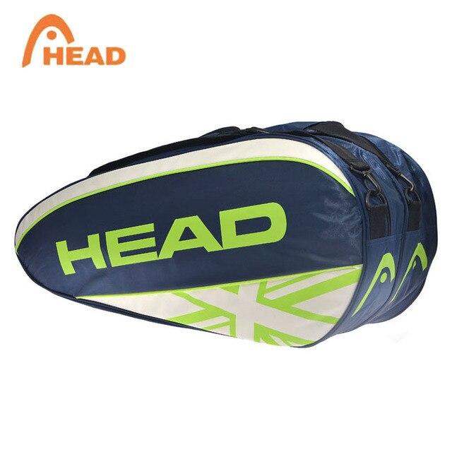 8932f8fa1 Cabeza Grande raqueta de tenis bolsa hombre deportes tenis mochila para Max 6  raquetas de Djokovic