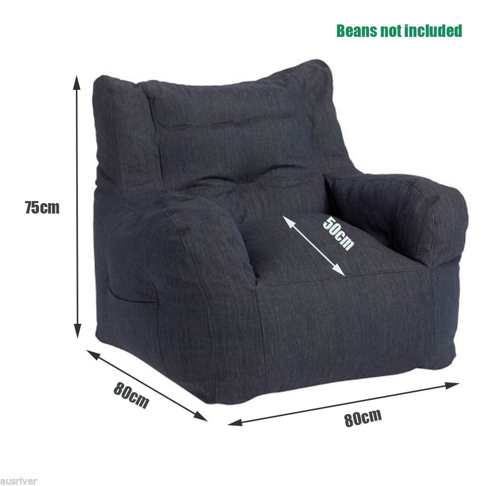 Luxury bean bag COVER for Adult bean bags Armchair bean bag sofa with Book Pocket-in Living Room Sofas from Furniture on Aliexpress.com | Alibaba Group  sc 1 st  AliExpress.com & Luxury bean bag COVER for Adult bean bags Armchair bean bag sofa ...