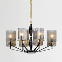 modern luxury smokey grey pendant lamps Living Room Restaurant Candle Iron gorgeous chandeliers and pendants for room dining