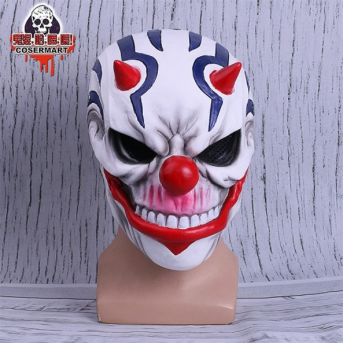 PAYDAY 2 Mask Rust Masks Game Payday 2 mask Cosplay Resin Red Nose Halloween Party Prop (1)