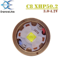 1 قطعة قوية 2600 لومينز 3.0 4.2 فولت XHP50.2 LED وحدة ل C8 مصباح يدوي ضوء فلاش مع النحاس DTP