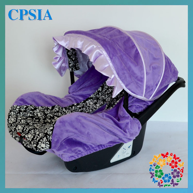 Dhl Free Purple Baby Infant Car Seat Covers Slip Set 2sets Lot