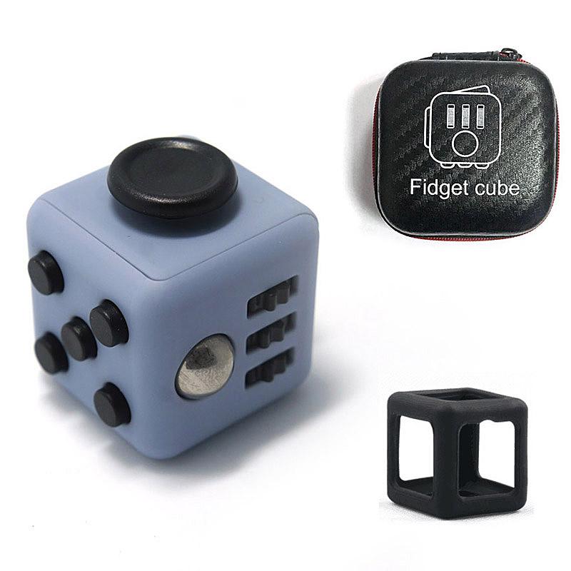 2017 New 1Pcs Fidget Cube Original + 1pcs Zipper Box + 1pcs Case lot Fidget Cube stress toys set for adult oyuncak Birthday gift