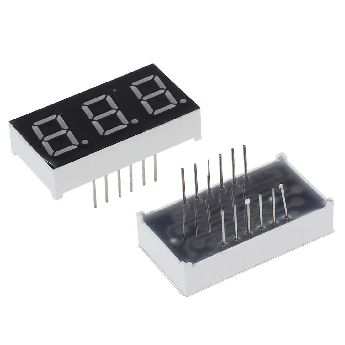 5 pcs Common Cathode 12 Pin 3 Bit 7 Segment 0.4 Red LED Display Digital Tube