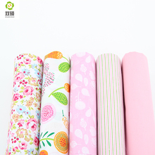 Pink Color  Patchwork Sewing 100% Cotton Fabric Printed Flower 40*50cm Tissus Fat Quarters Cloth 40*50CM A2-5-12