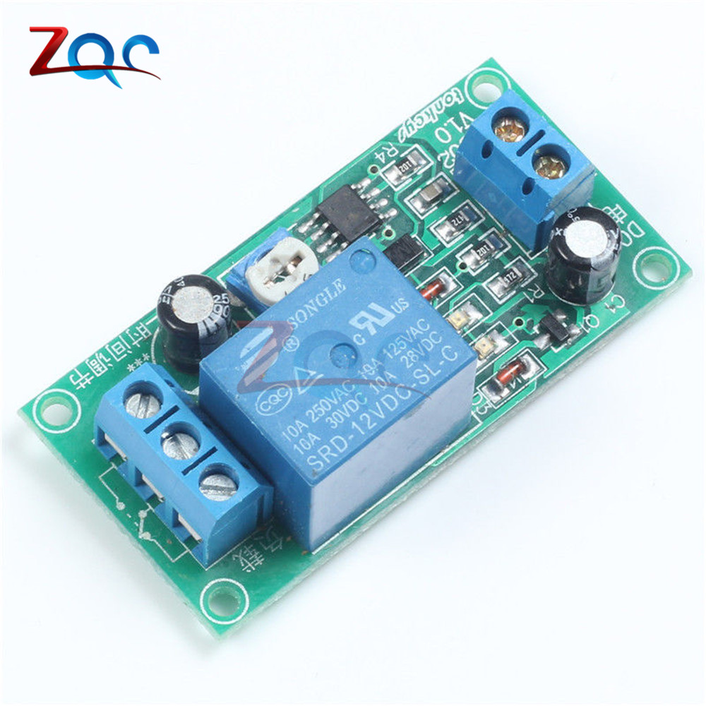 DC 12V Conduction NE555 Delay Timer Switch Adjustable Time Delay Relay Module AC 250V 10A DC 30V Connect Module dc 12v delay relay delay turn on delay turn off switch module with timer mar15 0