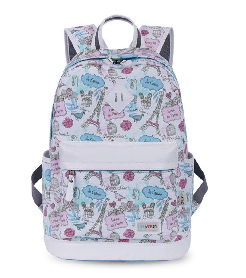 Новую школу моды печати Рюкзаки Для женщин холст рюкзак сумка для девочек подростков дорожные сумки ноутбук рюкзак Mochilas