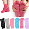 New Winter Women Toe Socks Cotton Non Slip Dance Pilates Sock calcetines Warm Cute Socks With Five Fingers Sokken Z1
