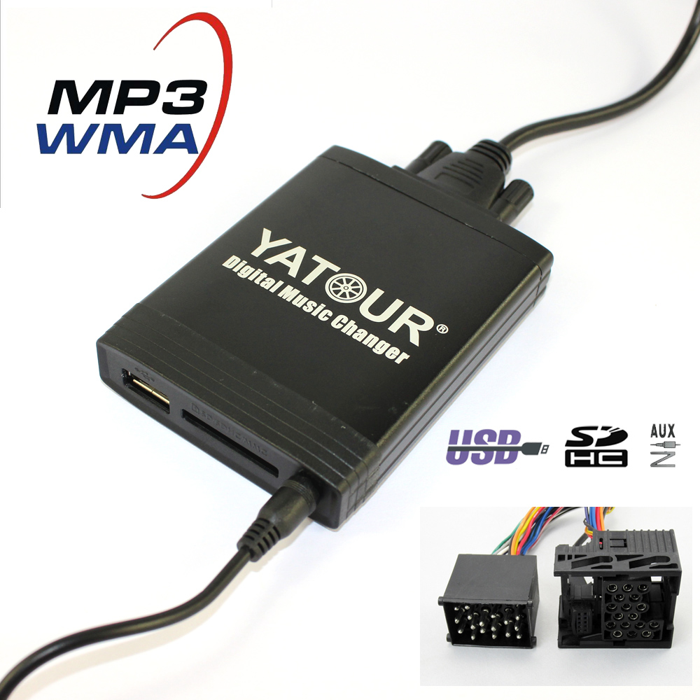 Yatour YT-M06 For BMW  Rover 75 17-pin E36 E46 E39 E38 X3 X5 E83 Z3 Car USB MP3  SD AUX adapter Digital CD Changer interface yatour car adapter aux mp3 sd usb music cd changer 6 6pin connector for toyota corolla fj crusier fortuner hiace radios