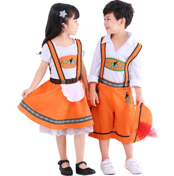 kid fashion boy girl Germany Bavaria Oktoberfest beer festival work clothes Costume Halloween Carnival Party Cosplay  A108