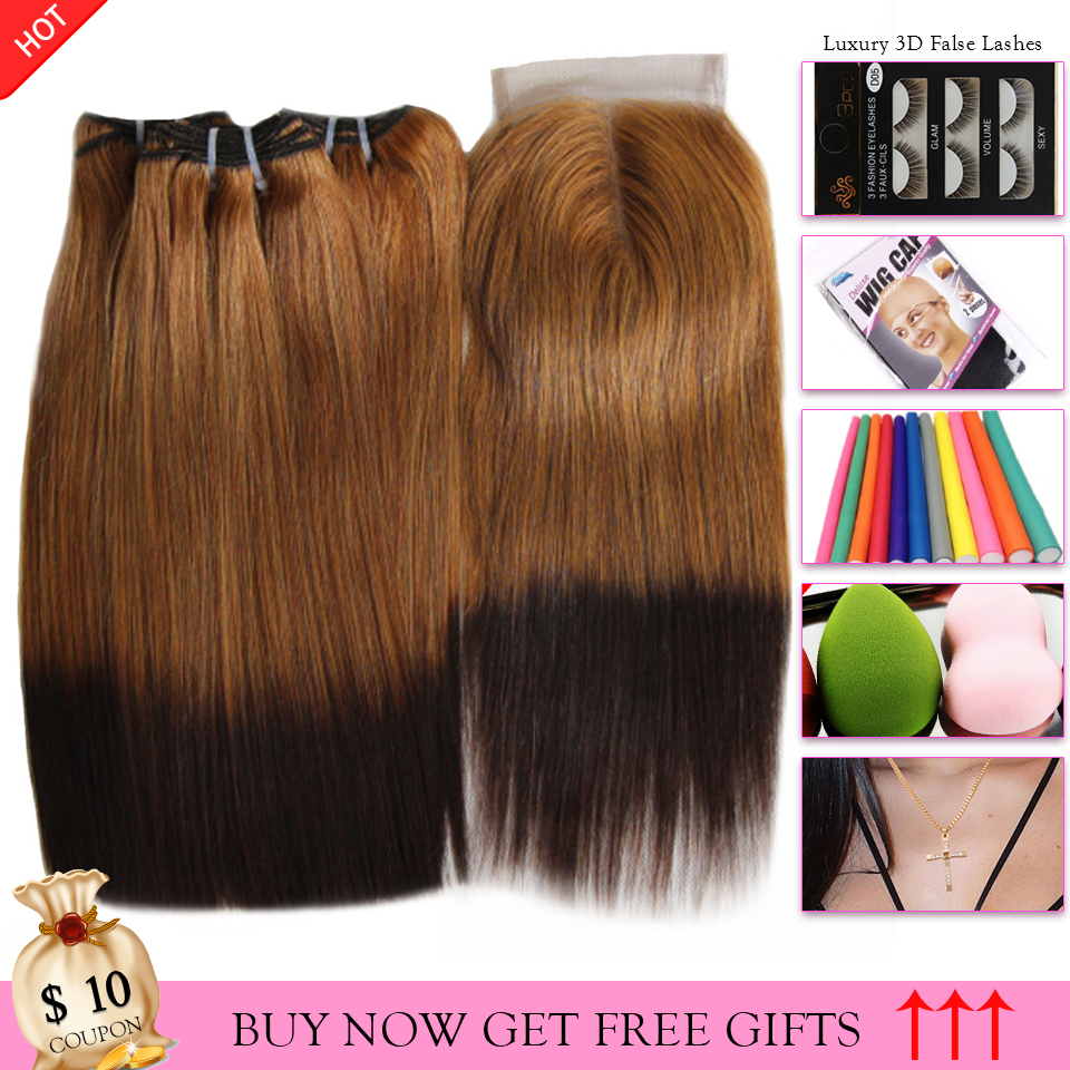 27 4 Ombre Straight Brazilian Hair Weave Bundles Double Drawn Funmi Fumi Human Hair Bundles With