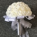 Maphia Wedding Bouquet 2017  Artificial Rose Formal flower Bridesmaid    White Satin Crystal    De Mariage Bridal Bouquets