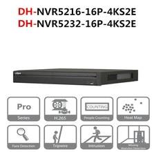 DH сетевой видеорегистратор PoE NVR5216-16P-4KS2E NVR5232-16P-4KS2E 16CH 32CH с 16 портов PoE 4 K и H.265 Pro сети видео Регистраторы