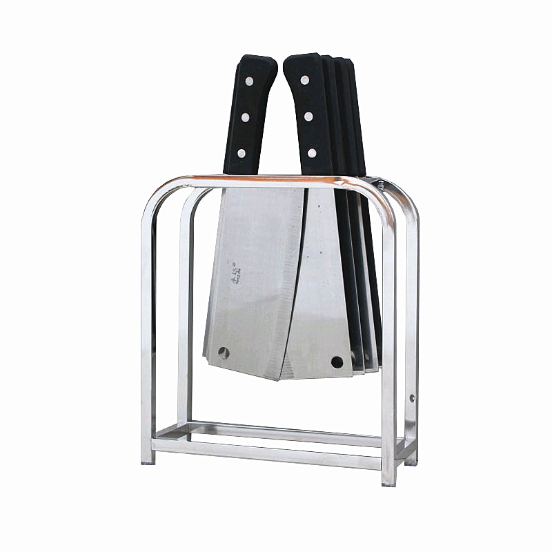 2019 Newest Kitchen Dinnerware Storage Rack Chopping Block Draining Holder  Stainless Steel Knife Holder