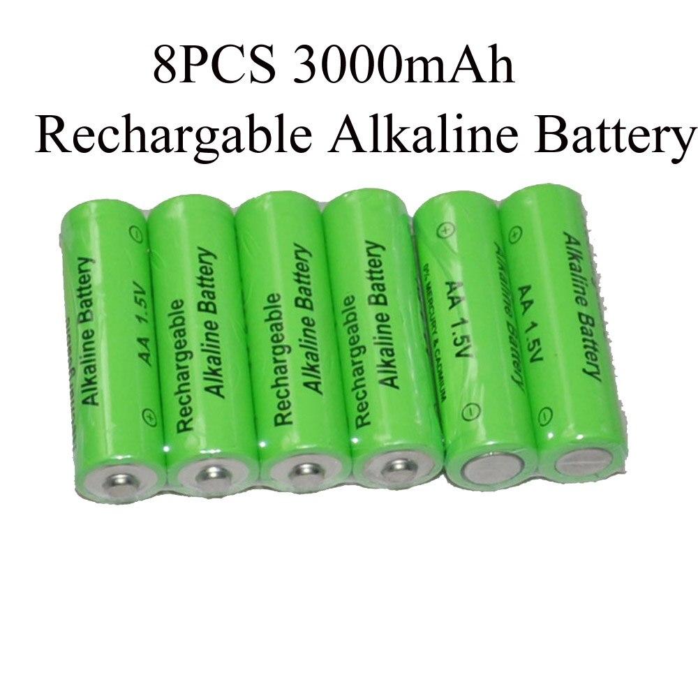 SORAVESS 8 stücke 1,5 v aa Akku 3000 mah 14500 Alkaline Batterien Für Uhr Spielzeug Taschenlampe Fernbedienung Kamera